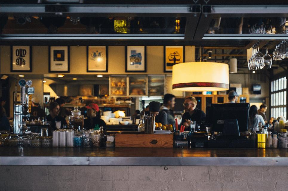 cafe using pos