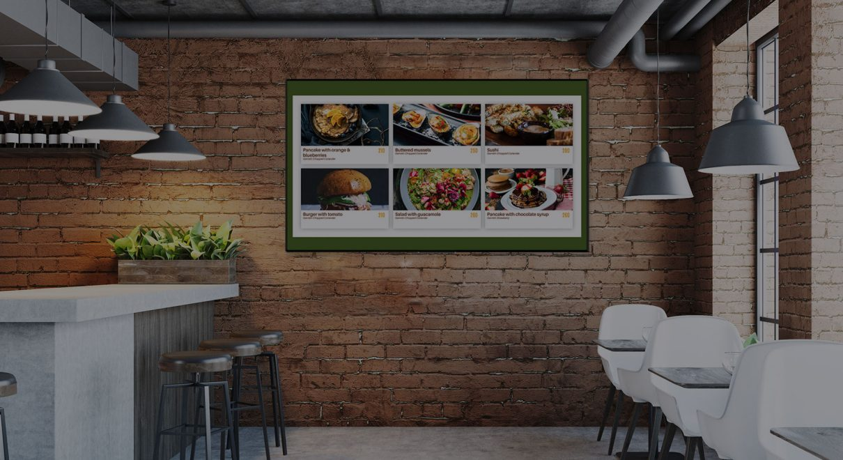 digital menu boards for restaurant