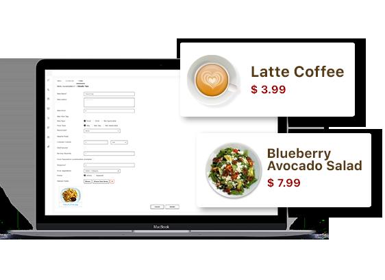 easily edit menu price in digital menu boards